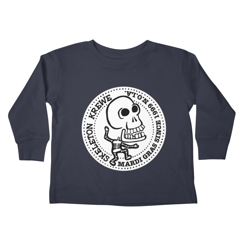 Skeleton Krewe Large Logo Kids Toddler Longsleeve T-Shirt by Skeleton Krewe's Shop