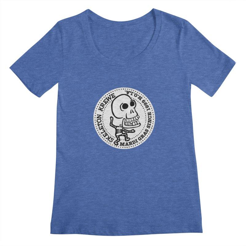 Skeleton Krewe Large Logo Women's Regular Scoop Neck by Skeleton Krewe's Shop