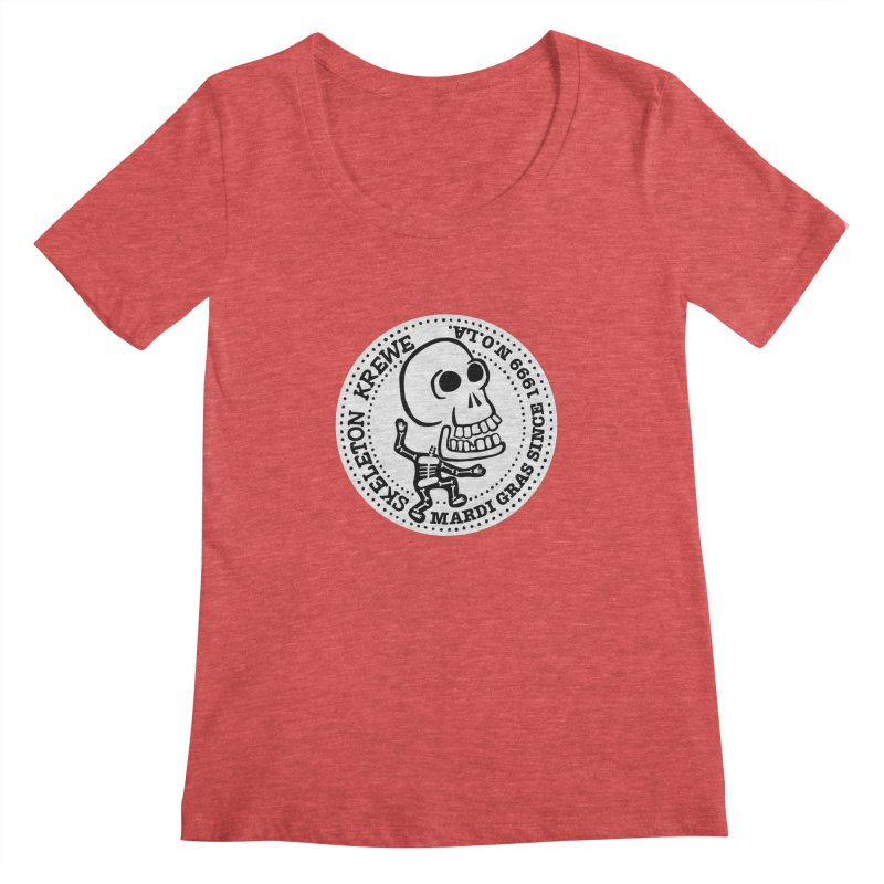 Skeleton Krewe Large Logo Women's Scoopneck by Skeleton Krewe's Shop