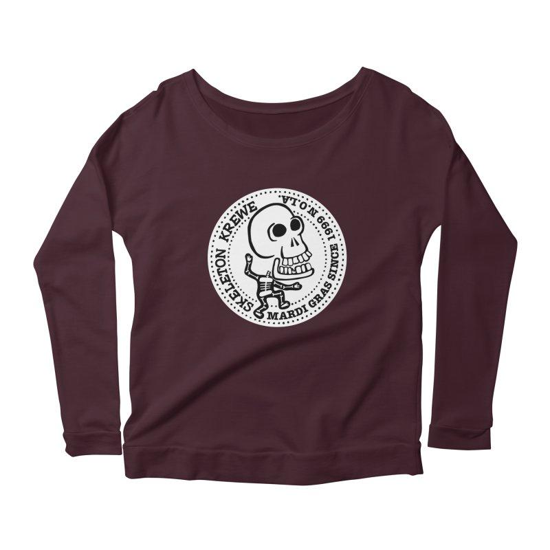 Skeleton Krewe Large Logo Women's Scoop Neck Longsleeve T-Shirt by Skeleton Krewe's Shop