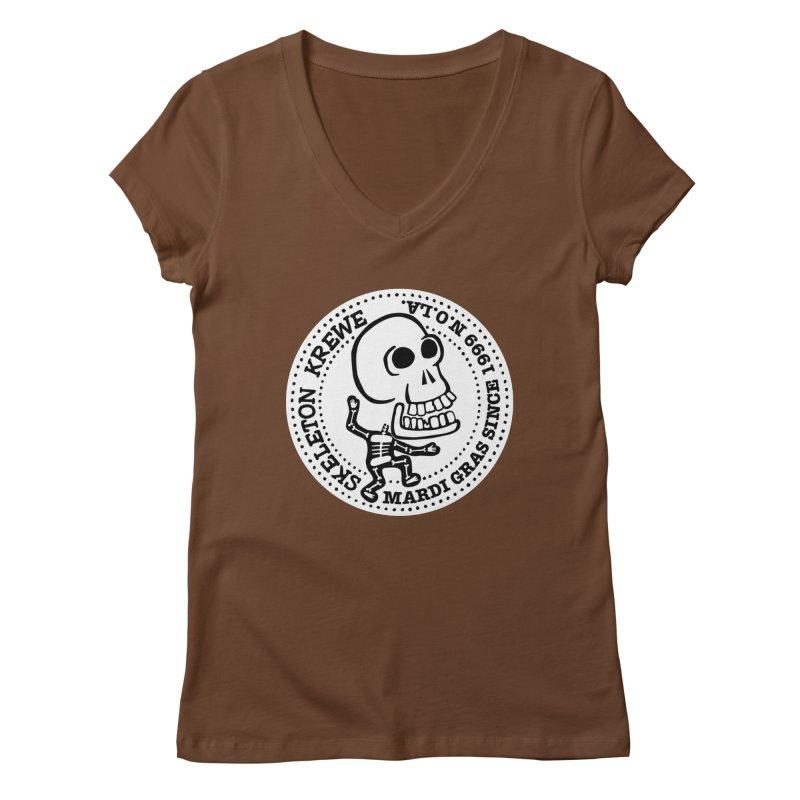 Skeleton Krewe Large Logo Women's Regular V-Neck by Skeleton Krewe's Shop