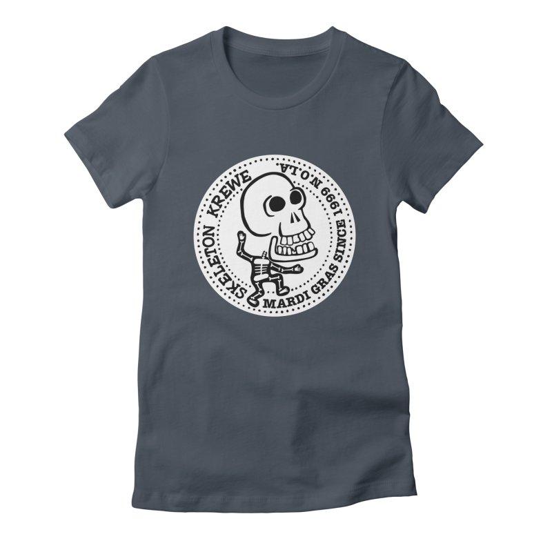 Skeleton Krewe Large Logo Women's Fitted T-Shirt by Skeleton Krewe's Shop