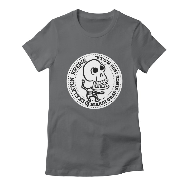 Skeleton Krewe Large Logo Women's Fitted T-Shirt by Skeleton Krewe's Shop