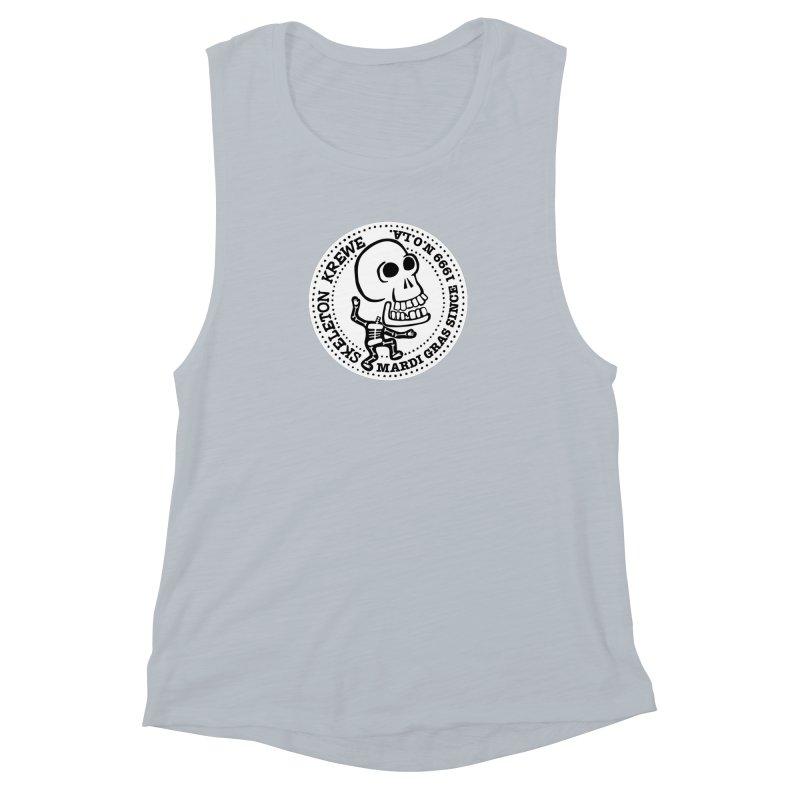Skeleton Krewe Large Logo Women's Muscle Tank by Skeleton Krewe's Shop