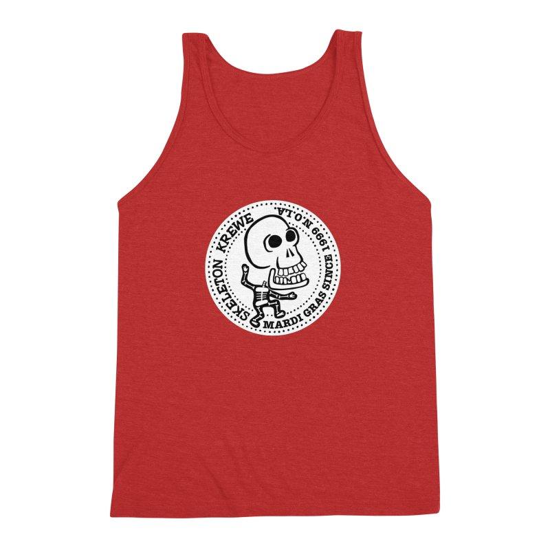 Skeleton Krewe Large Logo Men's Triblend Tank by Skeleton Krewe's Shop