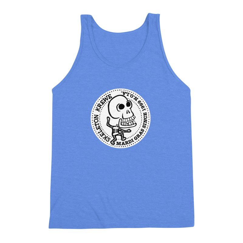 Skeleton Krewe Large Logo Men's Triblend Tank by Skeleton Krewe's Shop