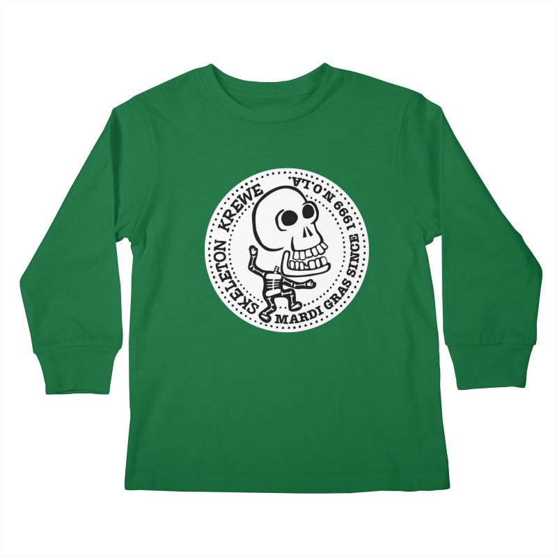 Skeleton Krewe Large Logo Kids Longsleeve T-Shirt by Skeleton Krewe's Shop