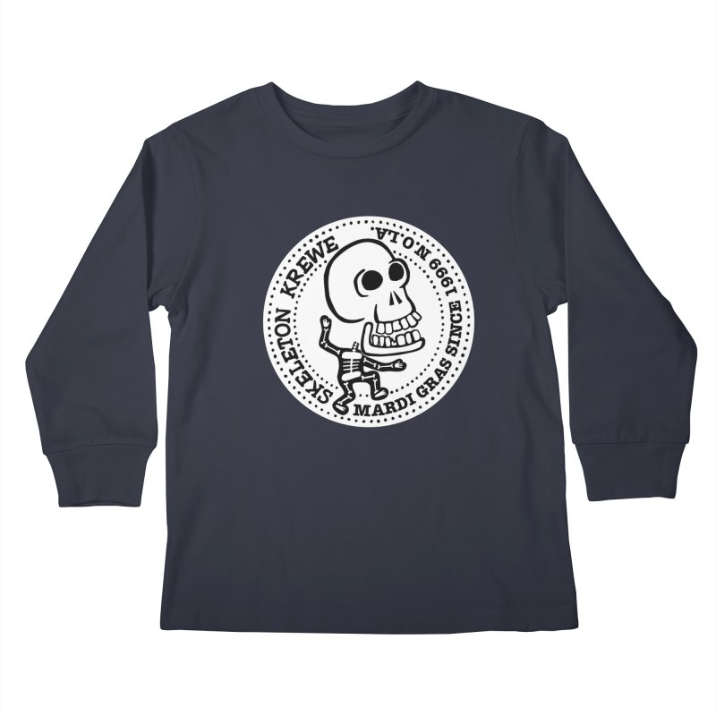 Skeleton Krewe Large Logo Kids Longsleeve T-Shirt by Skeleton Krewe's Shop