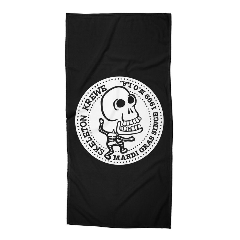 Skeleton Krewe Large Logo Accessories Beach Towel by Skeleton Krewe's Shop