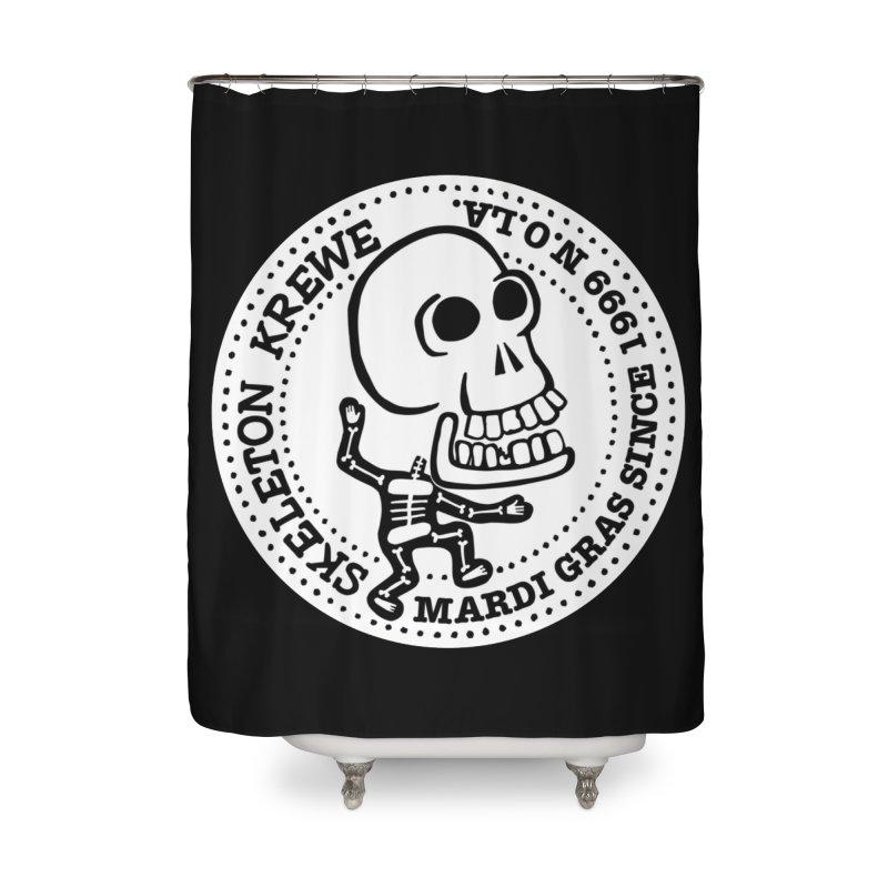 Skeleton Krewe Large Logo Home Shower Curtain by Skeleton Krewe's Shop