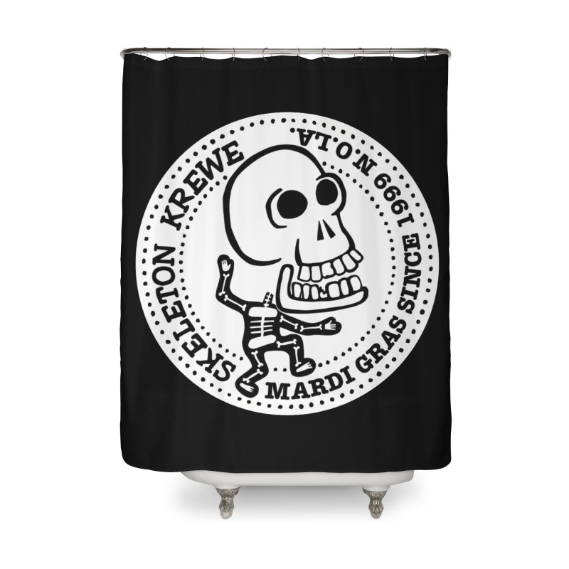 Skeleton Krewe Large Logo Home Shower Curtain by Skeleton Krewe's Shop