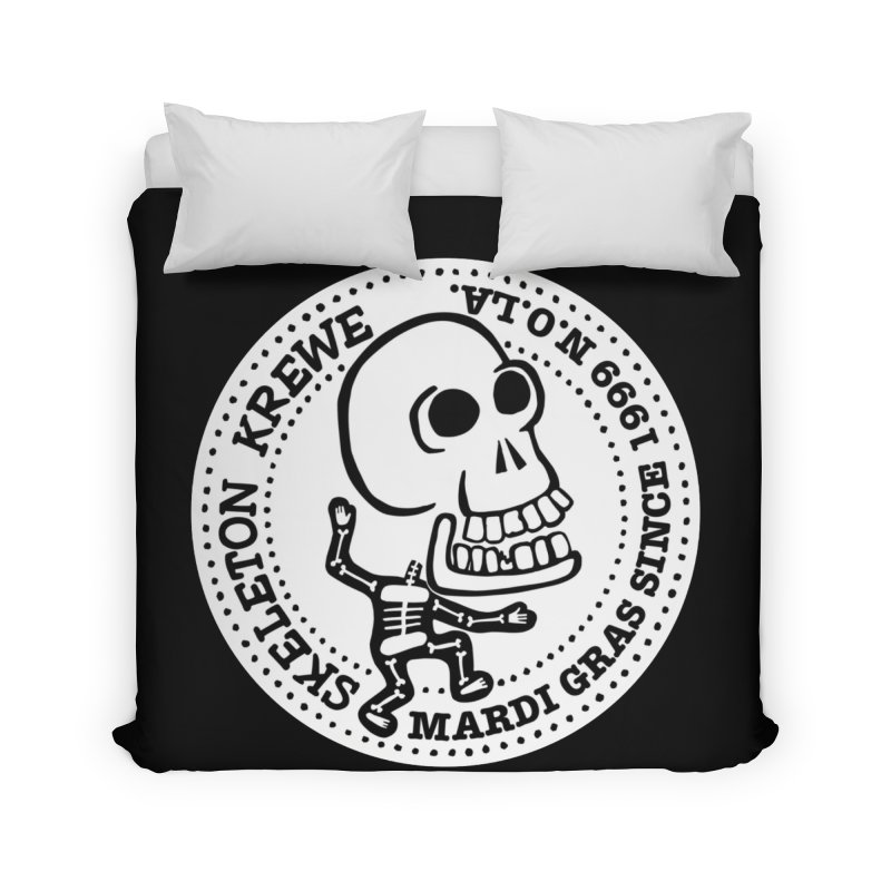Skeleton Krewe Large Logo Home Duvet by Skeleton Krewe's Shop