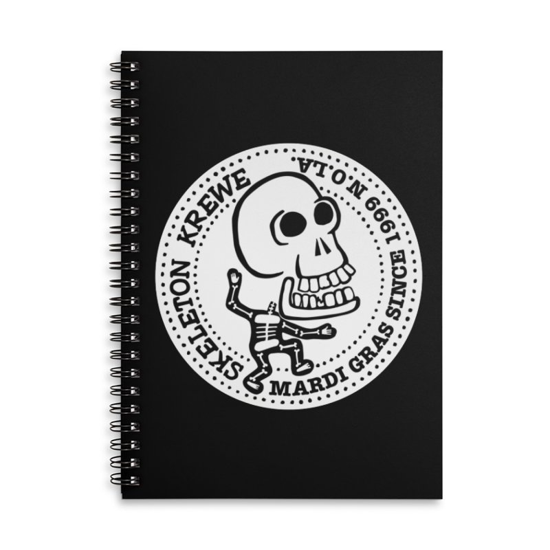 Skeleton Krewe Large Logo Accessories Lined Spiral Notebook by Skeleton Krewe's Shop