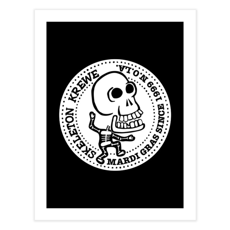 Skeleton Krewe Large Logo Home Fine Art Print by Skeleton Krewe's Shop