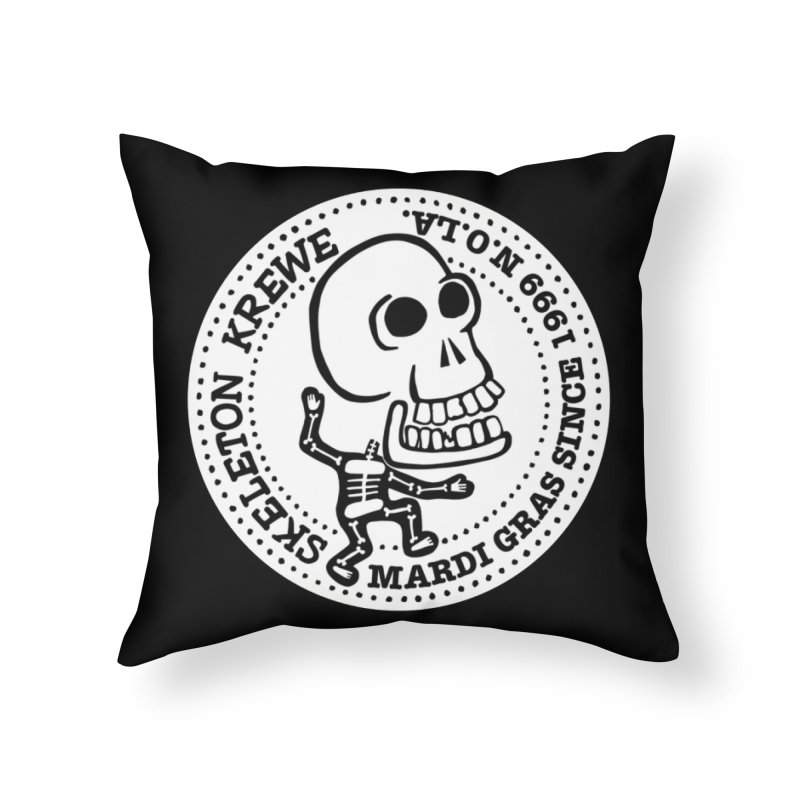 Skeleton Krewe Large Logo Home Throw Pillow by Skeleton Krewe's Shop