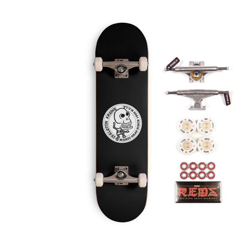 Skeleton Krewe Large Logo Accessories Complete - Pro Skateboard by Skeleton Krewe's Shop