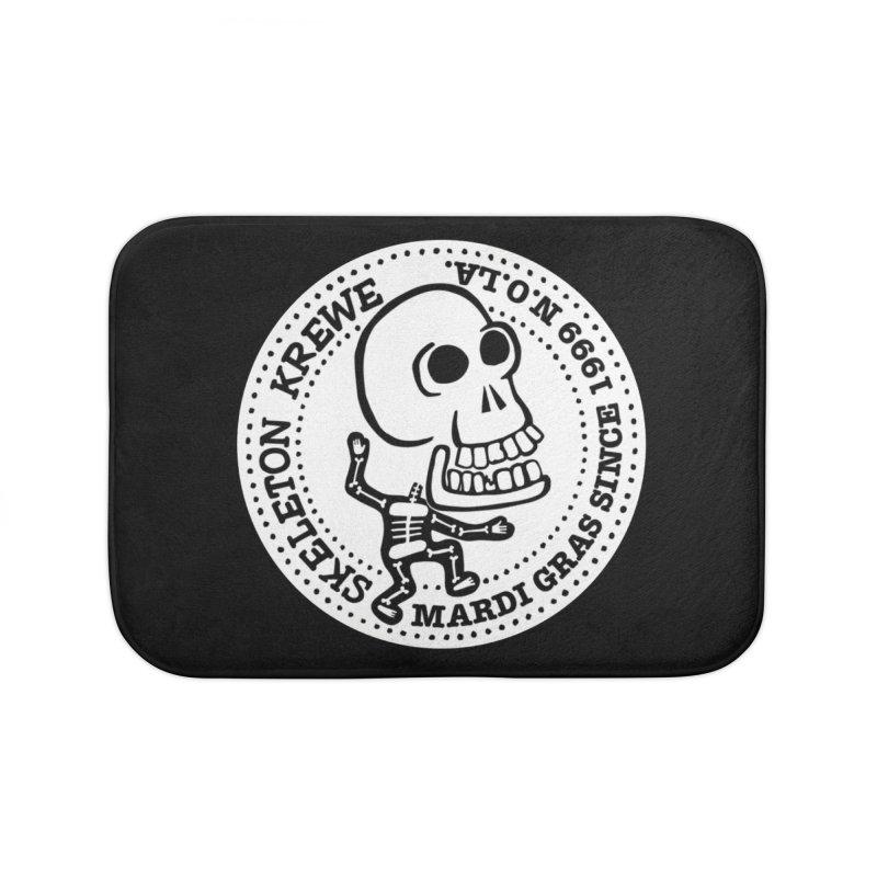 Skeleton Krewe Large Logo Home Bath Mat by Skeleton Krewe's Shop