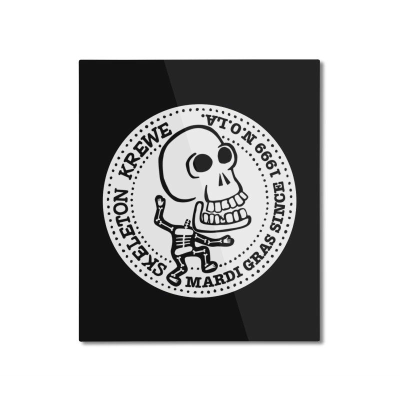 Skeleton Krewe Large Logo Home Mounted Aluminum Print by Skeleton Krewe's Shop
