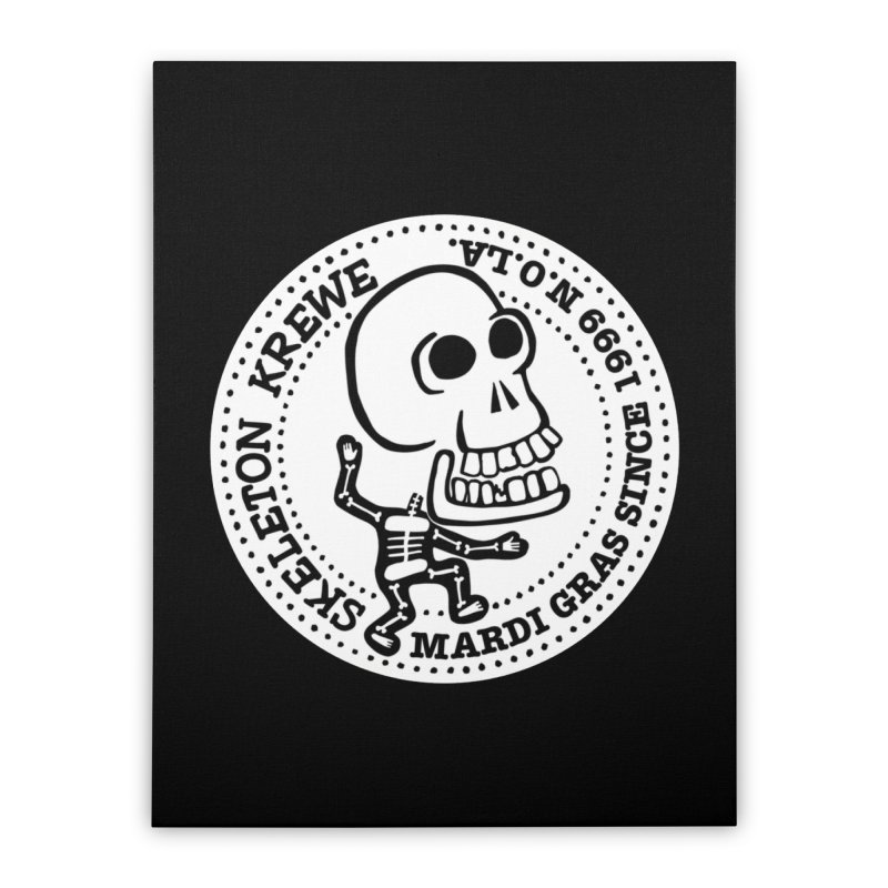 Skeleton Krewe Large Logo Home Stretched Canvas by Skeleton Krewe's Shop