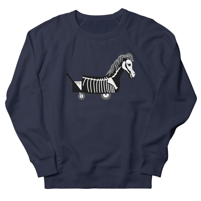 Skelly Men's French Terry Sweatshirt by Skeleton Krewe's Shop