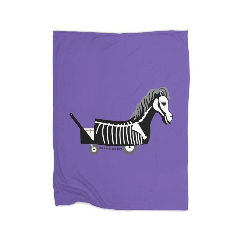 Skelly Home Fleece Blanket Blanket by Skeleton Krewe's Shop