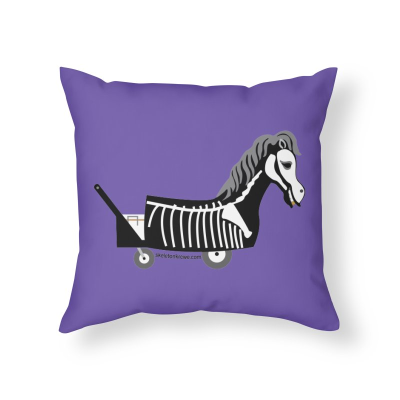 Skelly Home Throw Pillow by Skeleton Krewe's Shop