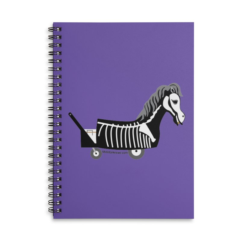 Skelly Accessories Lined Spiral Notebook by Skeleton Krewe's Shop