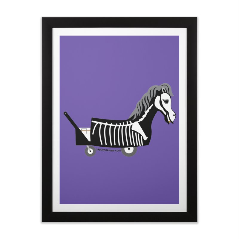 Skelly Home Framed Fine Art Print by Skeleton Krewe's Shop