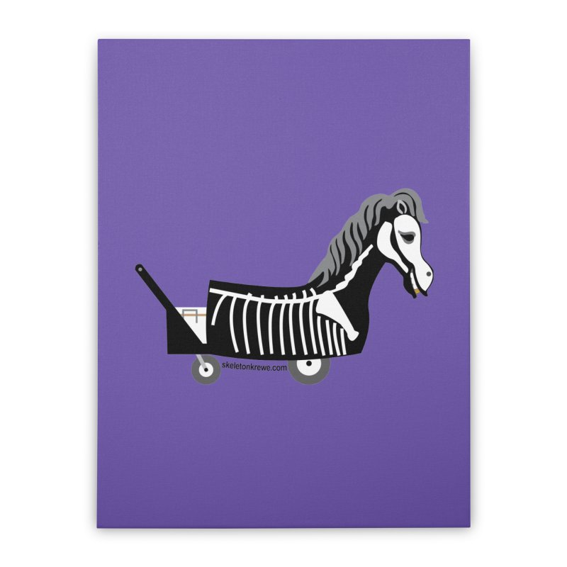 Skelly Home Stretched Canvas by Skeleton Krewe's Shop