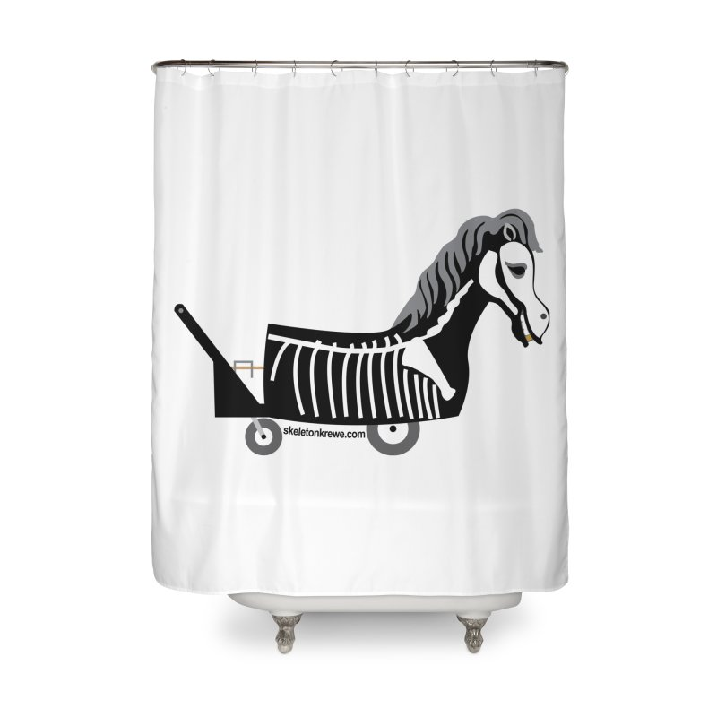 Skelly Home Shower Curtain by Skeleton Krewe's Shop