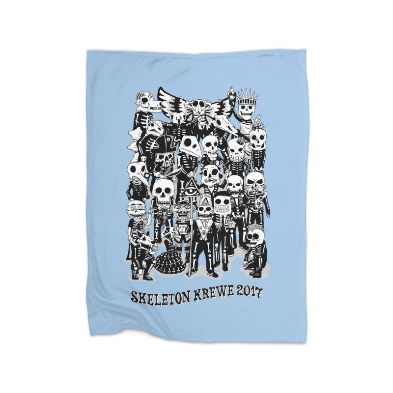 Skeleton Krewe 2017 Home Fleece Blanket Blanket by Skeleton Krewe's Shop