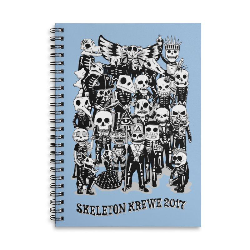 Skeleton Krewe 2017 Accessories Lined Spiral Notebook by Skeleton Krewe's Shop