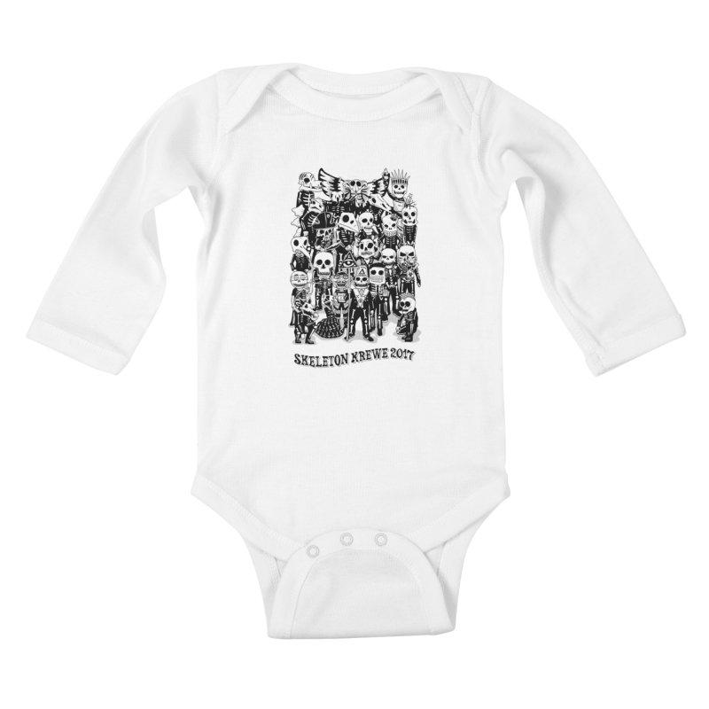 Skeleton Krewe 2017 Kids Baby Longsleeve Bodysuit by Skeleton Krewe's Shop