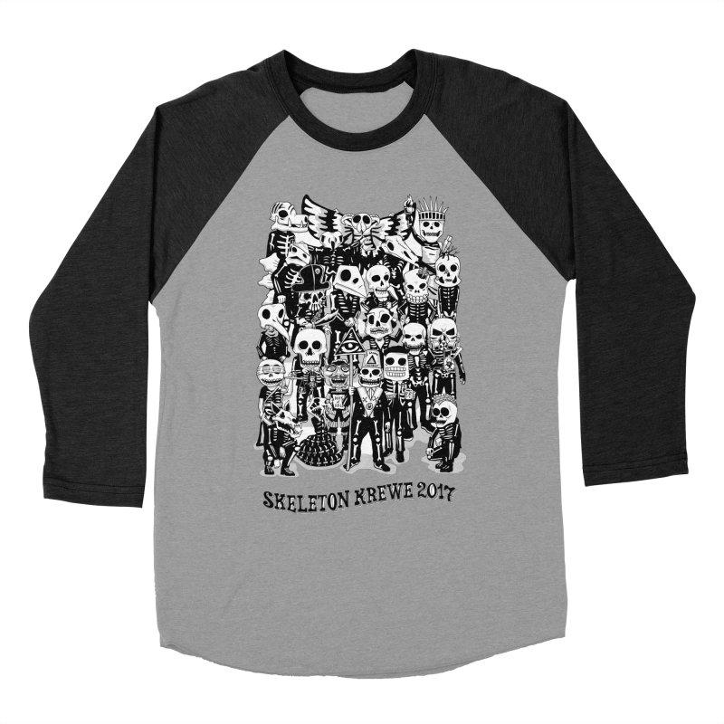 Skeleton Krewe 2017 Men's Baseball Triblend Longsleeve T-Shirt by Skeleton Krewe's Shop