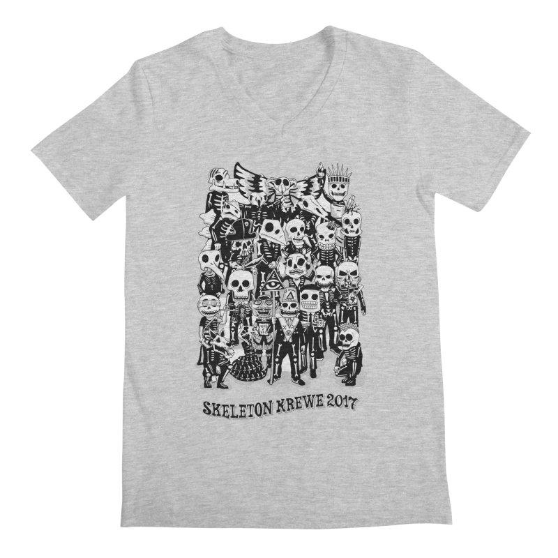 Skeleton Krewe 2017 Men's Regular V-Neck by Skeleton Krewe's Shop