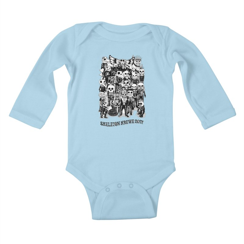 Skeleton Krewe 2017 Kids Baby Longsleeve Bodysuit by Skeleton Krewe's Shop
