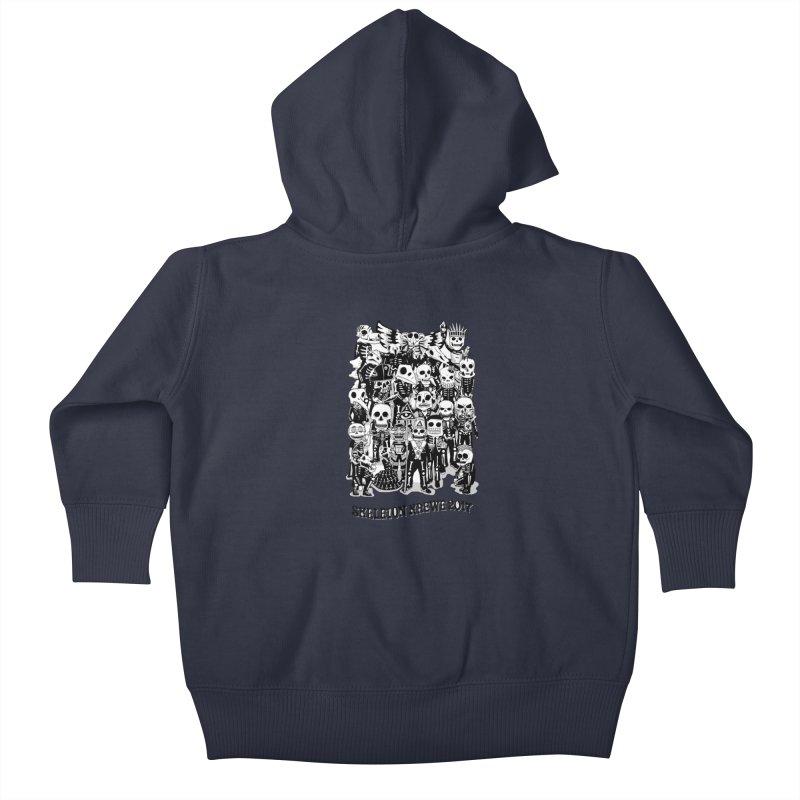 Skeleton Krewe 2017 Kids Baby Zip-Up Hoody by Skeleton Krewe's Shop