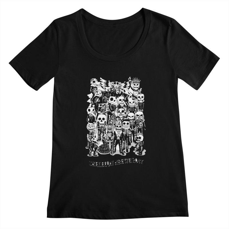 Skeleton Krewe 2017 Women's Scoopneck by Skeleton Krewe's Shop