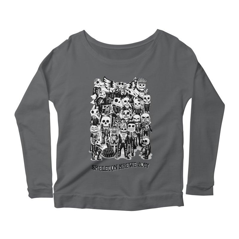 Skeleton Krewe 2017 Women's Scoop Neck Longsleeve T-Shirt by Skeleton Krewe's Shop