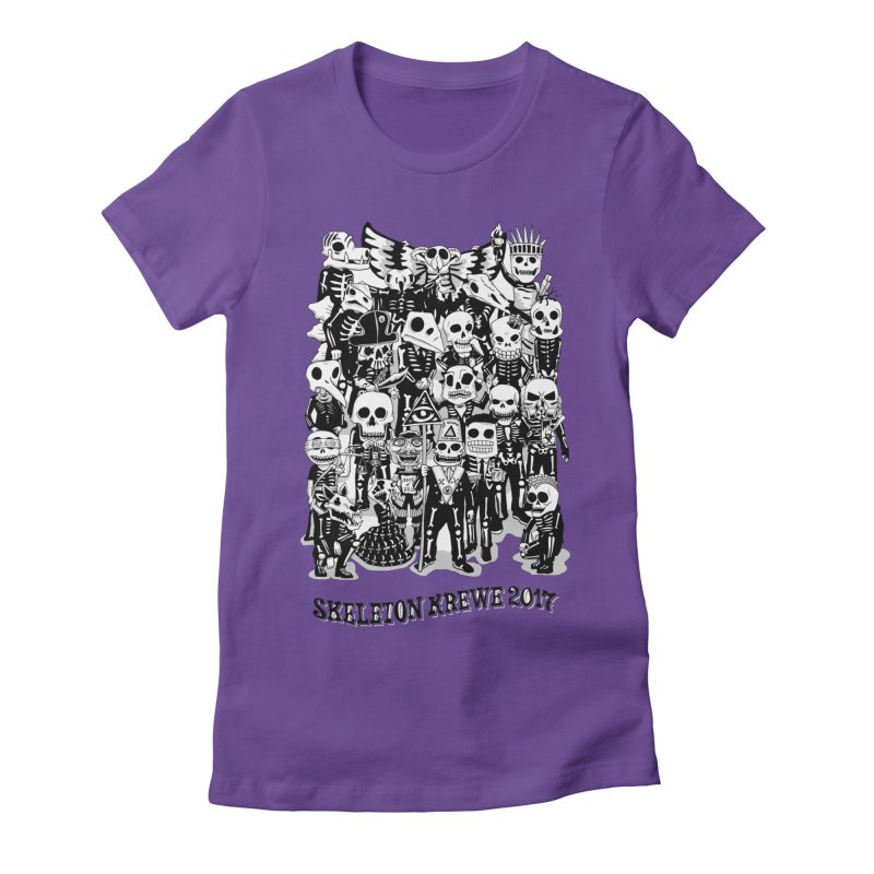 Skeleton Krewe 2017 Women's Fitted T-Shirt by Skeleton Krewe's Shop