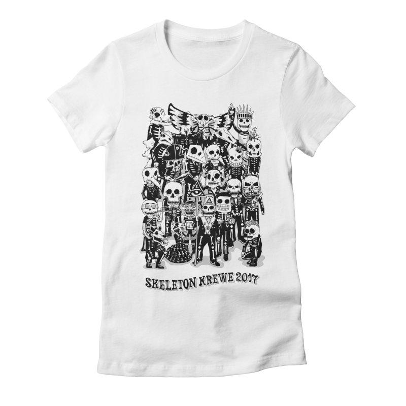 Skeleton Krewe 2017 Women's Fitted T-Shirt by Skeleton Krewe's Shop