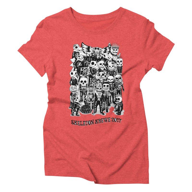 Skeleton Krewe 2017 Women's Triblend T-Shirt by Skeleton Krewe's Shop