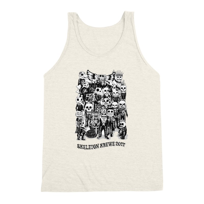 Skeleton Krewe 2017 Men's Triblend Tank by Skeleton Krewe's Shop