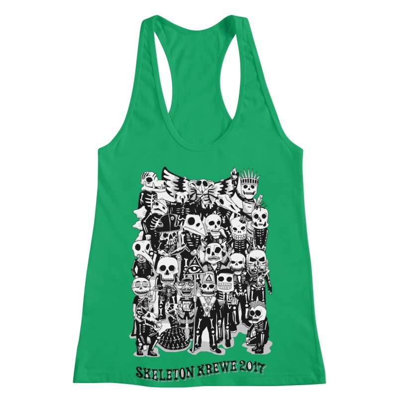 Skeleton Krewe 2017 Women's Racerback Tank by Skeleton Krewe's Shop