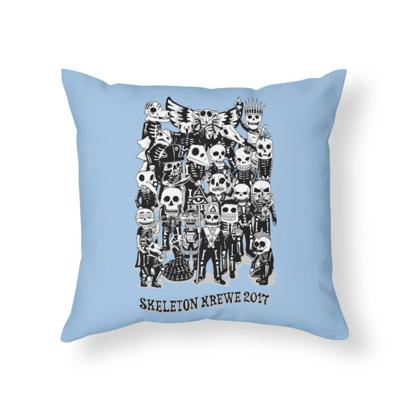 Skeleton Krewe 2017 Home Throw Pillow by Skeleton Krewe's Shop