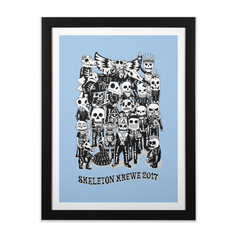 Skeleton Krewe 2017 Home Framed Fine Art Print by Skeleton Krewe's Shop