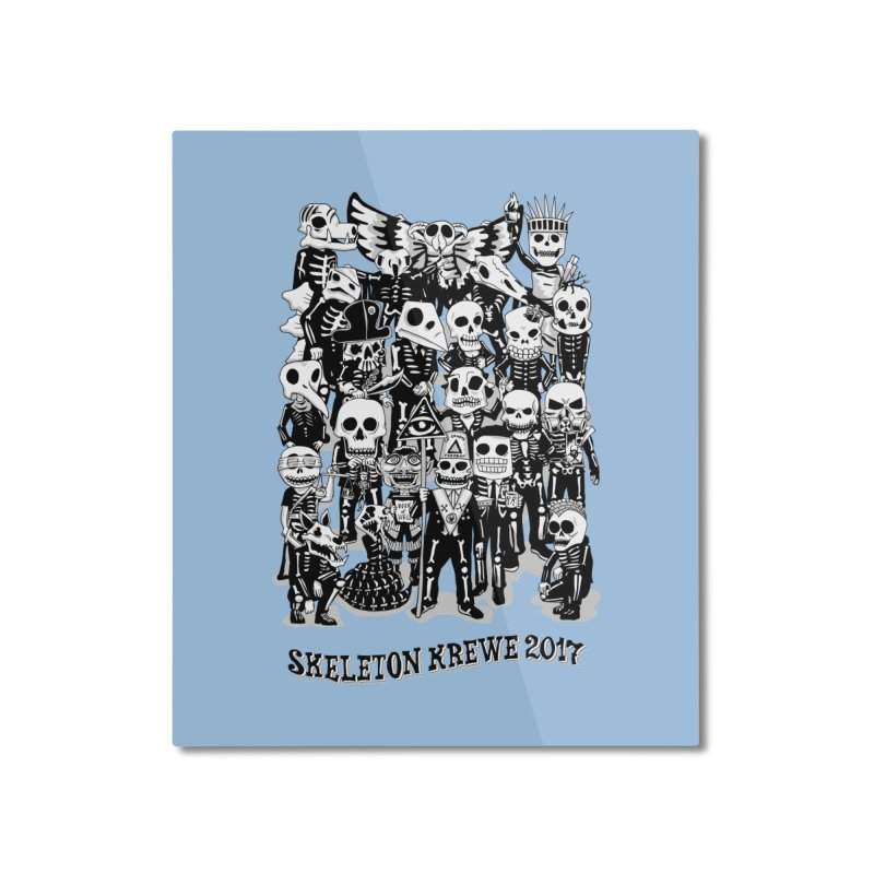 Skeleton Krewe 2017 Home Mounted Aluminum Print by Skeleton Krewe's Shop