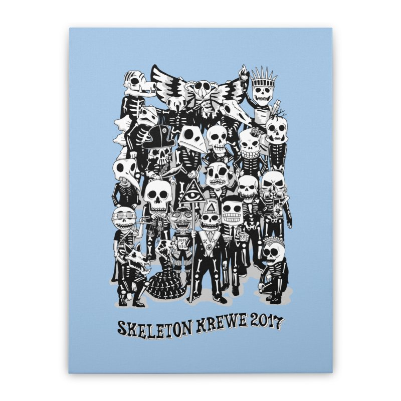 Skeleton Krewe 2017 Home Stretched Canvas by Skeleton Krewe's Shop