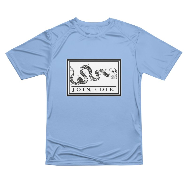 Join & Die Men's Performance T-Shirt by Skeleton Krewe's Shop