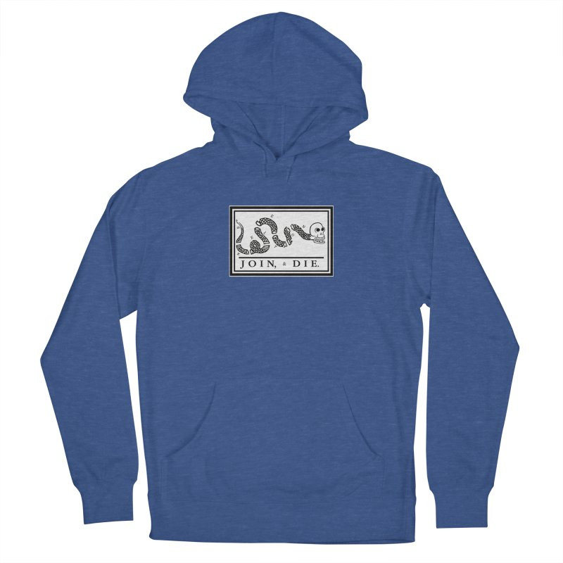 Join & Die Men's French Terry Pullover Hoody by Skeleton Krewe's Shop